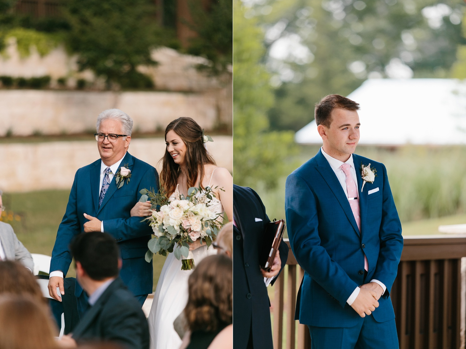 Aleta + Sabian a blush pink and navy blue wedding at The Springs in Anna, TX by North Texas Wedding Photographer _ Rachel Meagan Photography _ 049