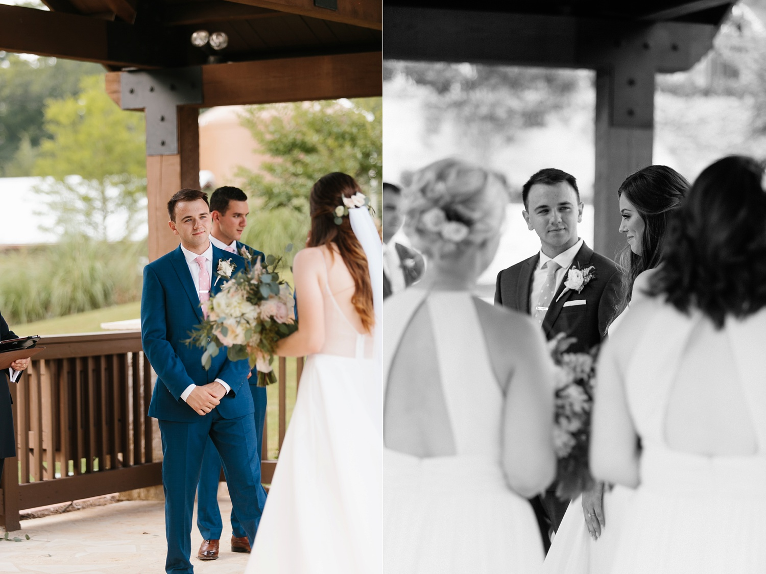 Aleta + Sabian a blush pink and navy blue wedding at The Springs in Anna, TX by North Texas Wedding Photographer _ Rachel Meagan Photography _ 051