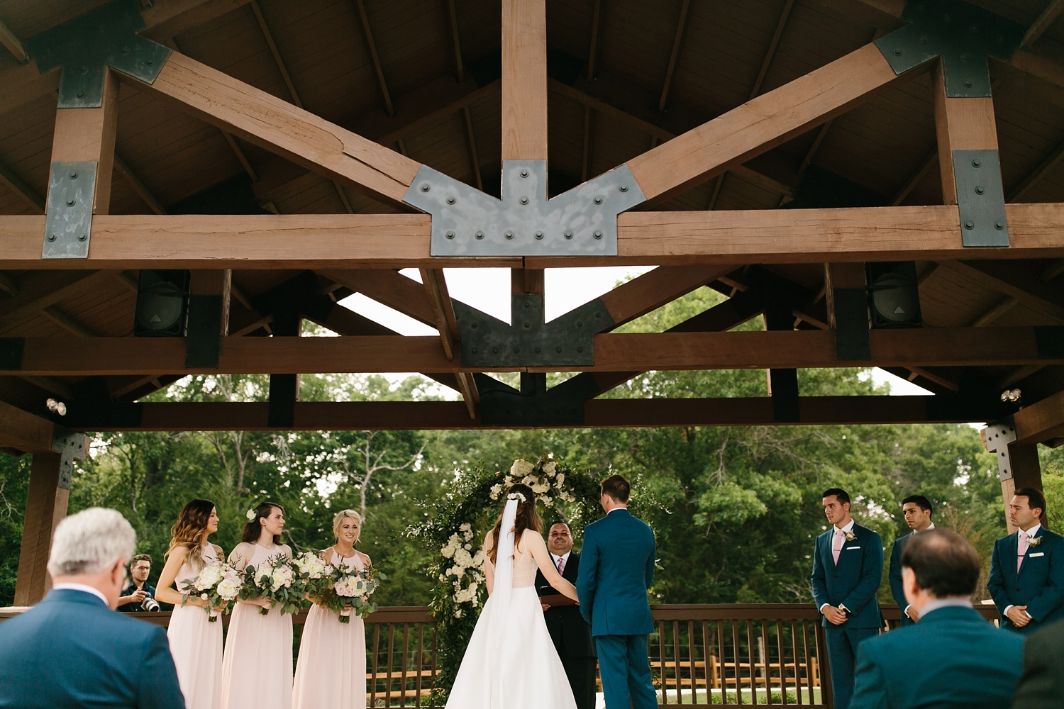 Aleta + Sabian a blush pink and navy blue wedding at The Springs in Anna, TX by North Texas Wedding Photographer _ Rachel Meagan Photography _ 052