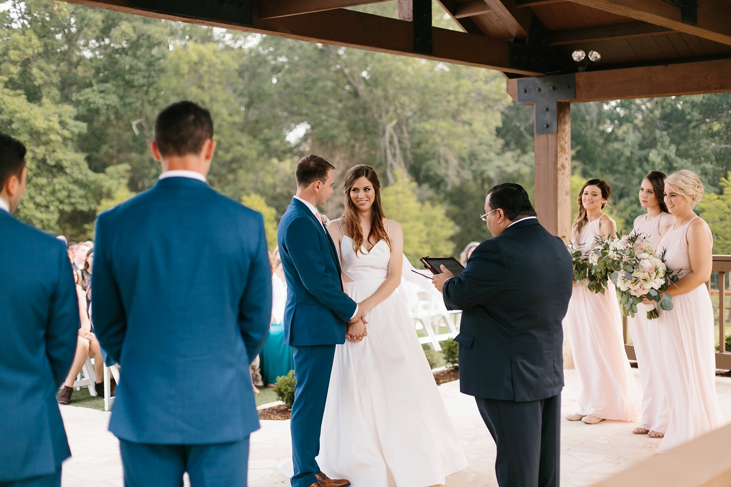 Aleta + Sabian a blush pink and navy blue wedding at The Springs in Anna, TX by North Texas Wedding Photographer _ Rachel Meagan Photography _ 057