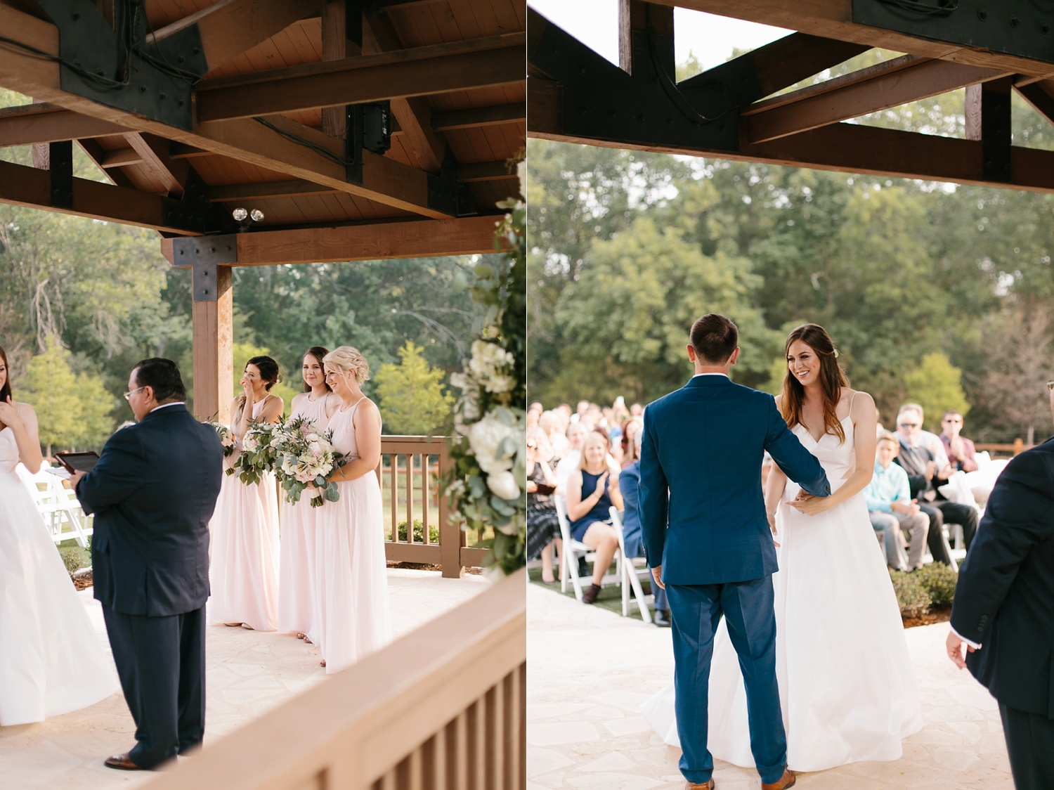 Aleta + Sabian a blush pink and navy blue wedding at The Springs in Anna, TX by North Texas Wedding Photographer _ Rachel Meagan Photography _ 059