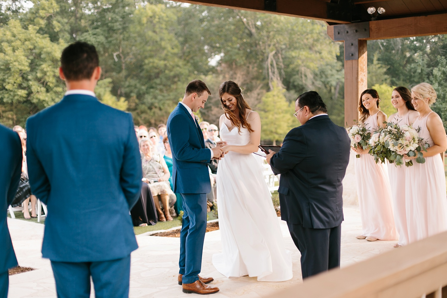 Aleta + Sabian a blush pink and navy blue wedding at The Springs in Anna, TX by North Texas Wedding Photographer _ Rachel Meagan Photography _ 061