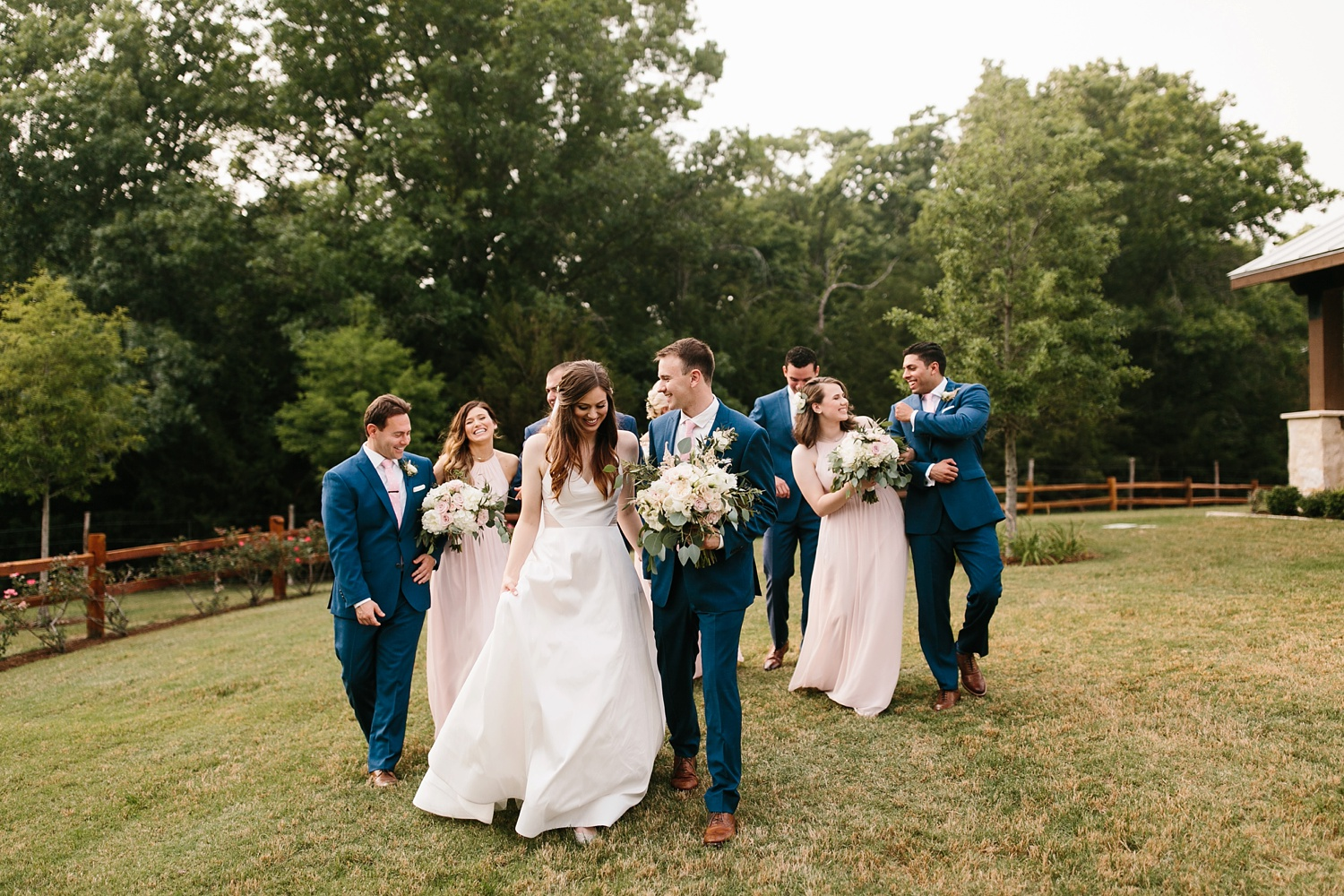 Aleta + Sabian a blush pink and navy blue wedding at The Springs in Anna, TX by North Texas Wedding Photographer _ Rachel Meagan Photography _ 073