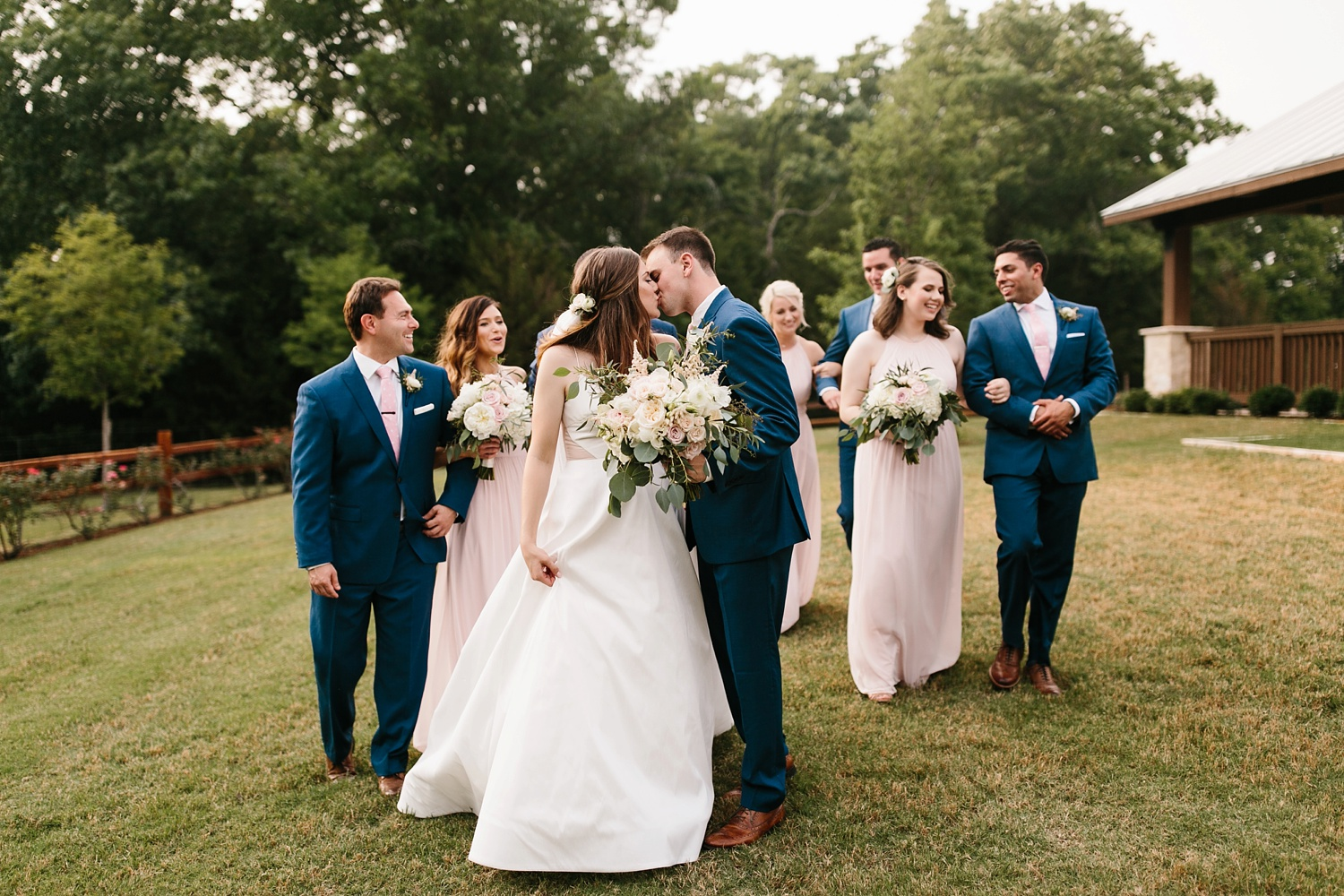Aleta + Sabian a blush pink and navy blue wedding at The Springs in Anna, TX by North Texas Wedding Photographer _ Rachel Meagan Photography _ 074