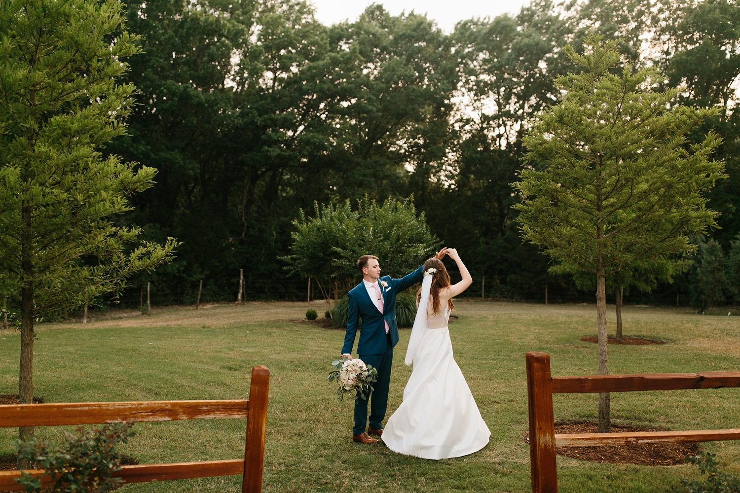 Aleta + Sabian a blush pink and navy blue wedding at The Springs in Anna, TX by North Texas Wedding Photographer _ Rachel Meagan Photography _ 078