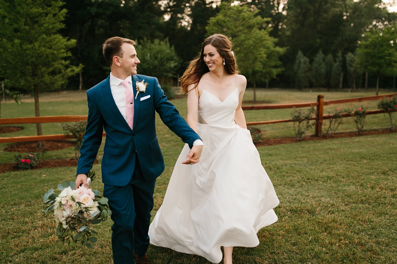 Aleta + Sabian a blush pink and navy blue wedding at The Springs in Anna, TX by North Texas Wedding Photographer _ Rachel Meagan Photography _ 084