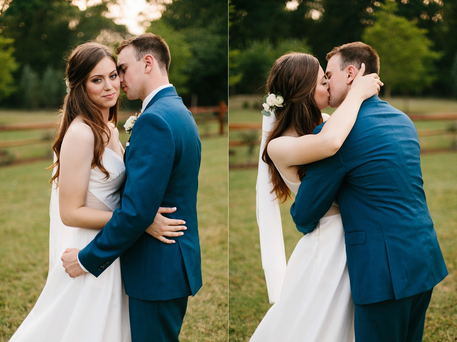 Aleta + Sabian a blush pink and navy blue wedding at The Springs in Anna, TX by North Texas Wedding Photographer _ Rachel Meagan Photography _ 096