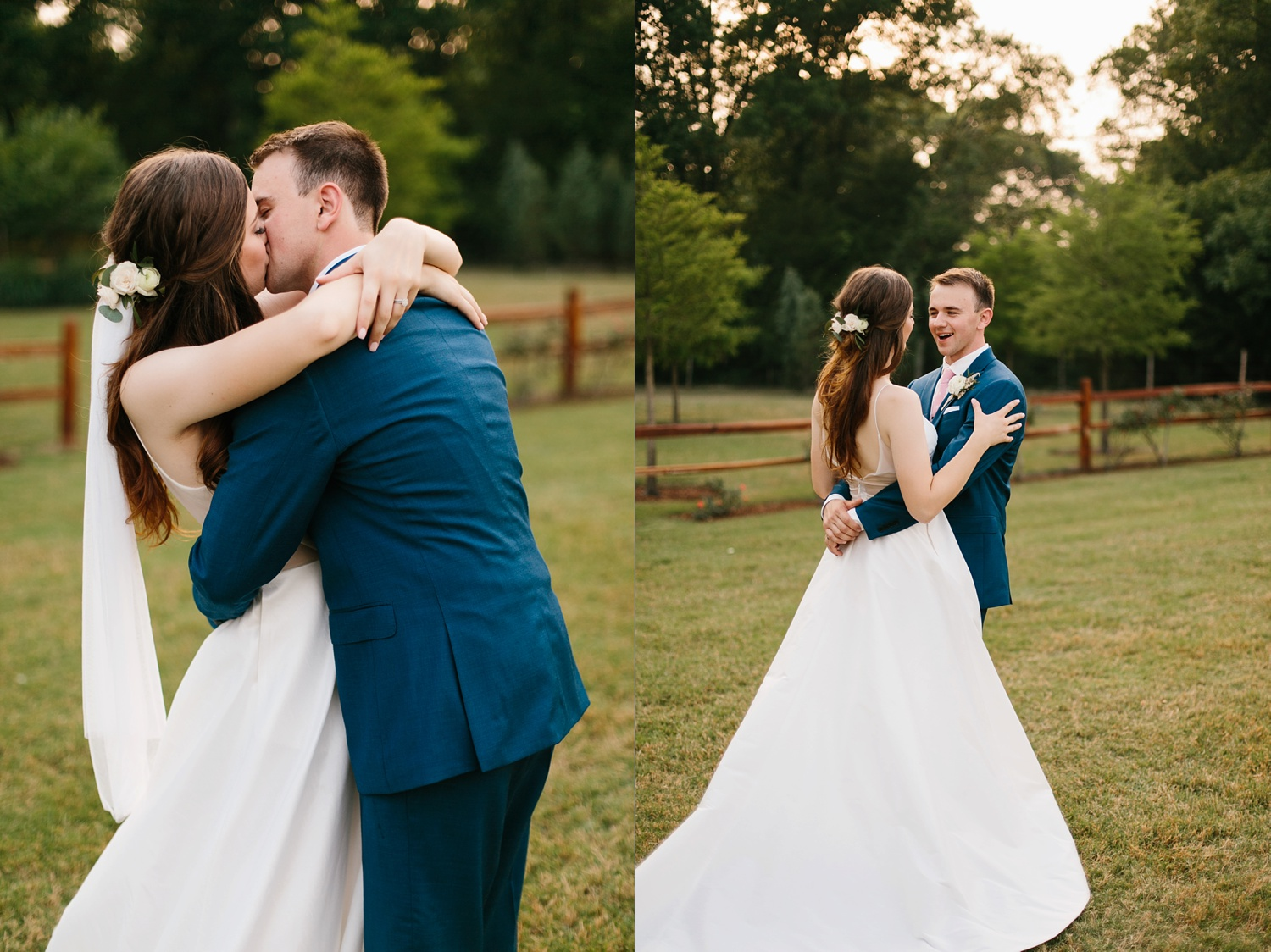 Aleta + Sabian a blush pink and navy blue wedding at The Springs in Anna, TX by North Texas Wedding Photographer _ Rachel Meagan Photography _ 098