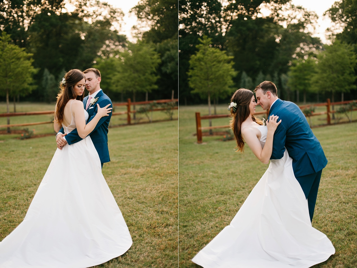Aleta + Sabian a blush pink and navy blue wedding at The Springs in Anna, TX by North Texas Wedding Photographer _ Rachel Meagan Photography _ 099