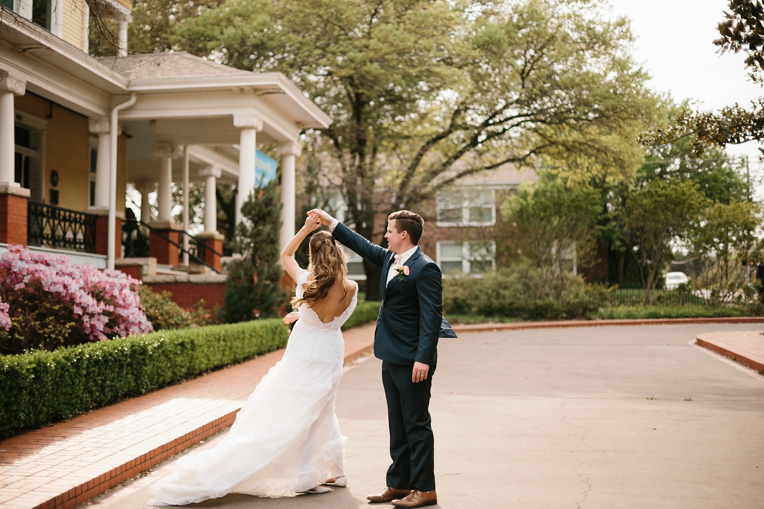 Amber + Daniel an intimate, simple, spring ceremony at Heard Craig Center and reception at Gather in McKinney, Texas by North Texas Wedding Photographer Rachel Meagan Photography 094