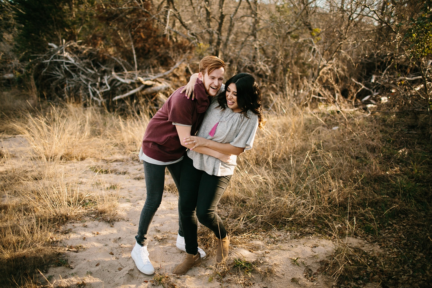 Grant + Lysette - floral dress engagement session by North Texas Wedding Photographer Rachel Meagan Photography011