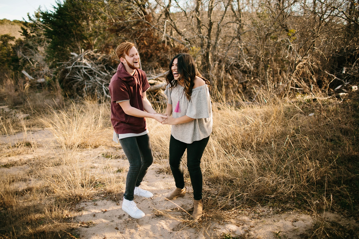 Grant + Lysette - floral dress engagement session by North Texas Wedding Photographer Rachel Meagan Photography015