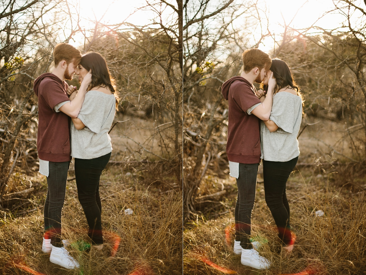 Grant + Lysette - floral dress engagement session by North Texas Wedding Photographer Rachel Meagan Photography019