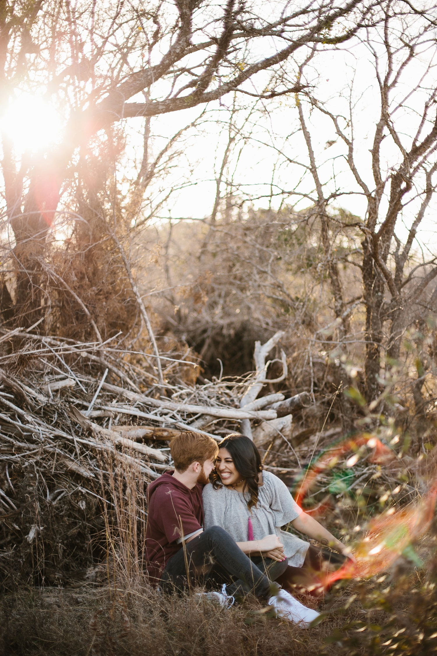 Grant + Lysette - floral dress engagement session by North Texas Wedding Photographer Rachel Meagan Photography032