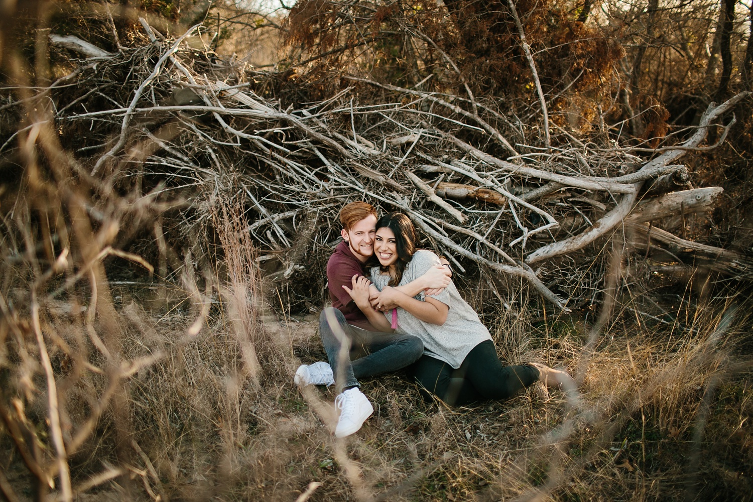 Grant + Lysette - floral dress engagement session by North Texas Wedding Photographer Rachel Meagan Photography033