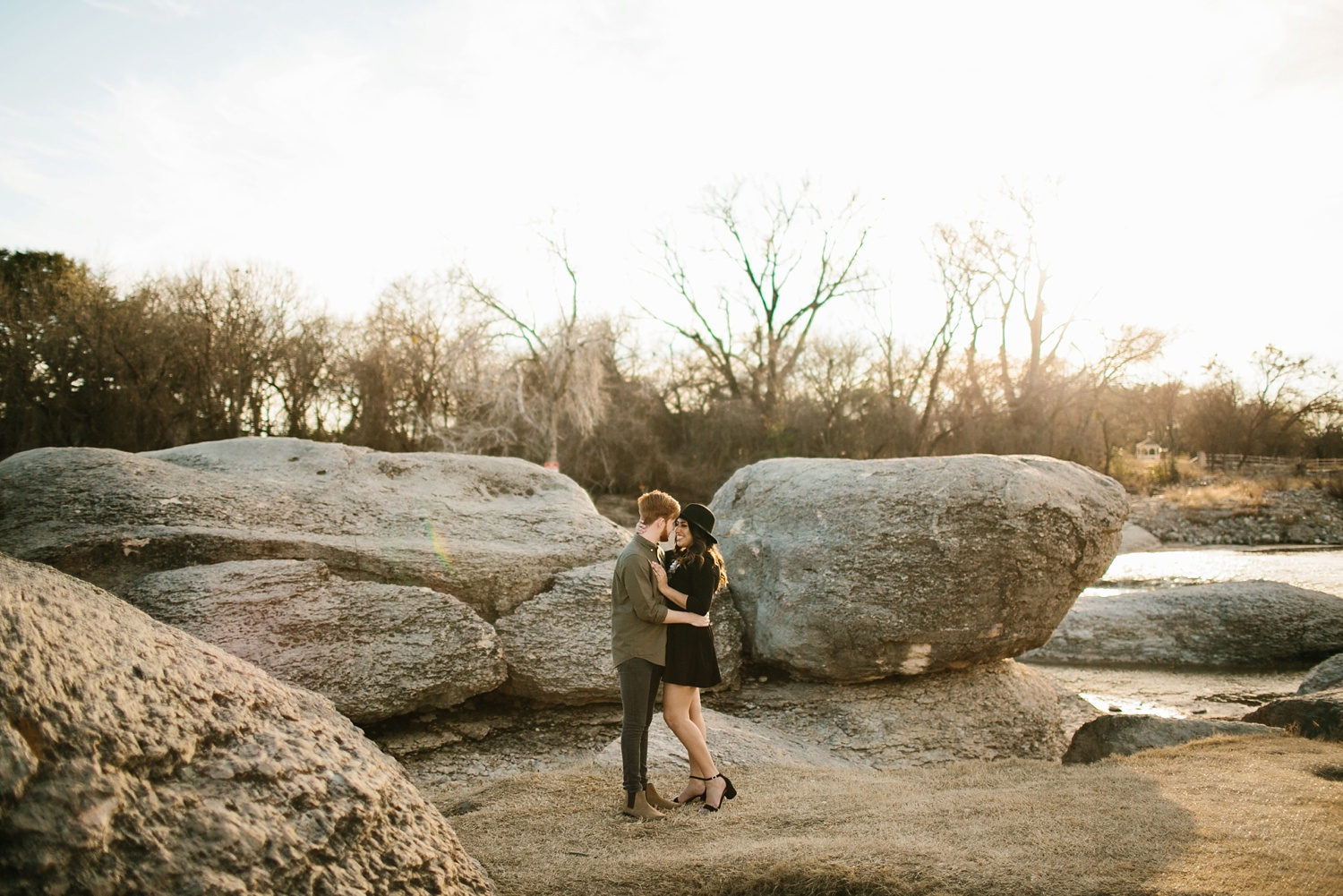 Grant + Lysette - floral dress engagement session by North Texas Wedding Photographer Rachel Meagan Photography040