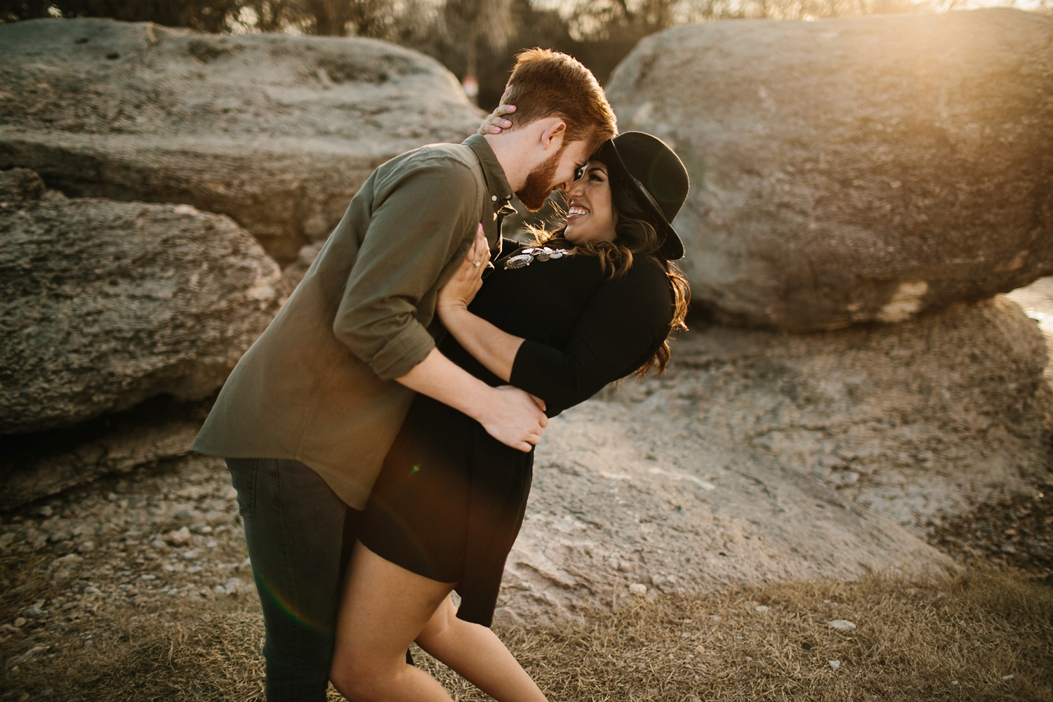 Grant + Lysette - floral dress engagement session by North Texas Wedding Photographer Rachel Meagan Photography044