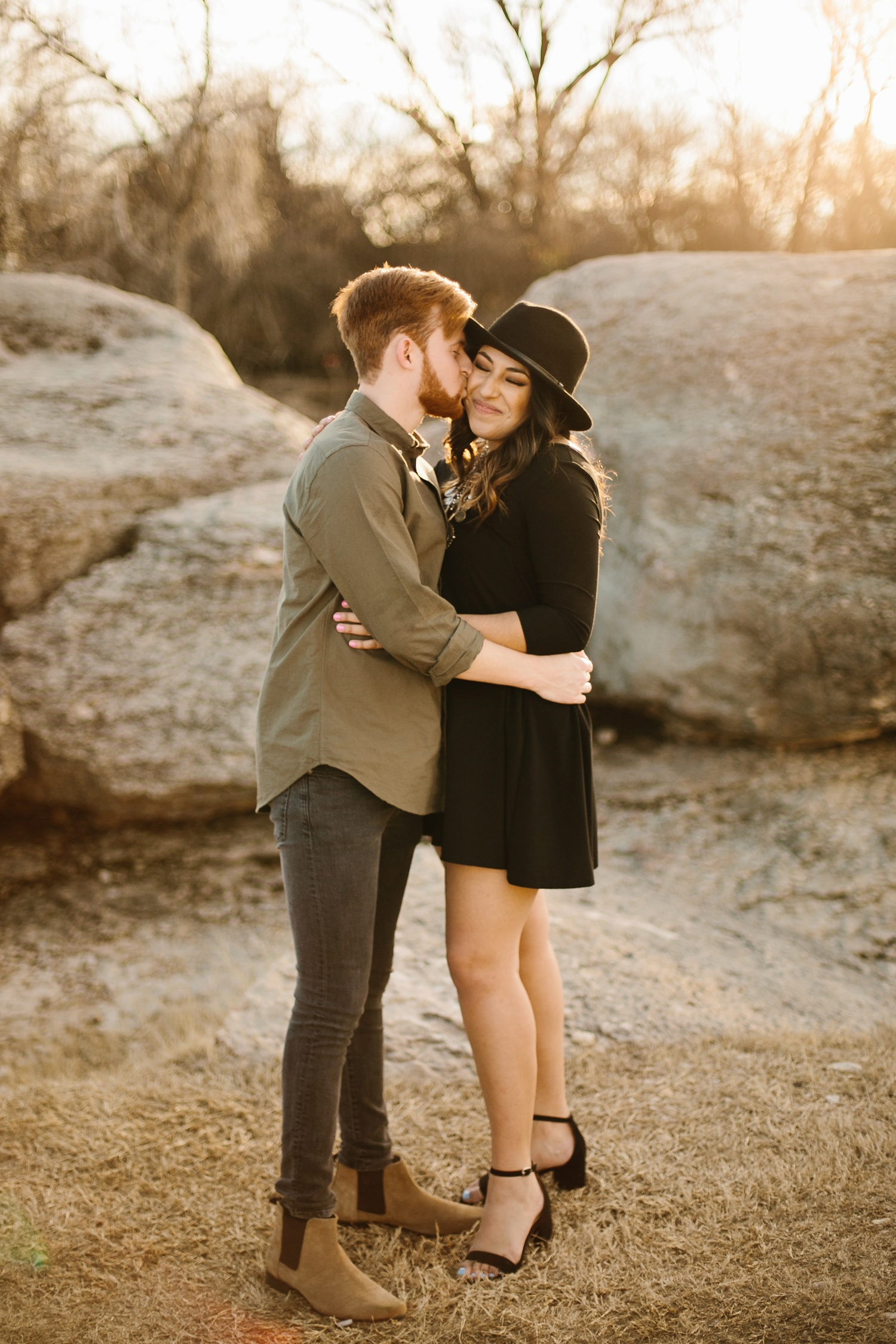 Grant + Lysette - floral dress engagement session by North Texas Wedding Photographer Rachel Meagan Photography046