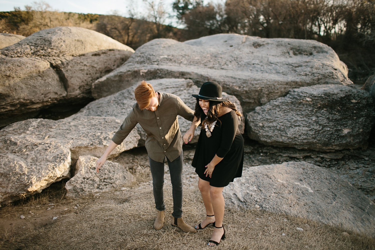 Grant + Lysette - floral dress engagement session by North Texas Wedding Photographer Rachel Meagan Photography048