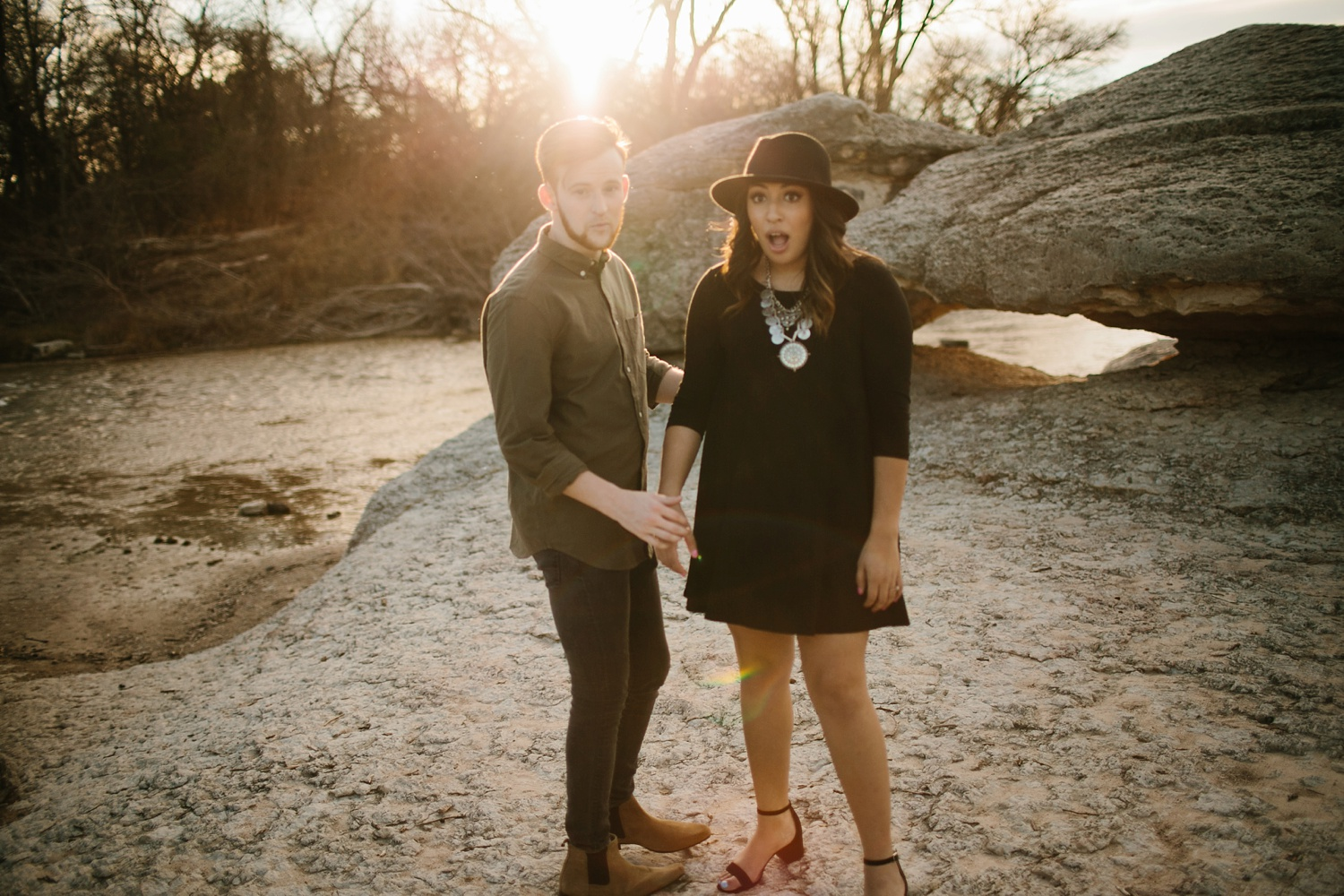 Grant + Lysette - floral dress engagement session by North Texas Wedding Photographer Rachel Meagan Photography051