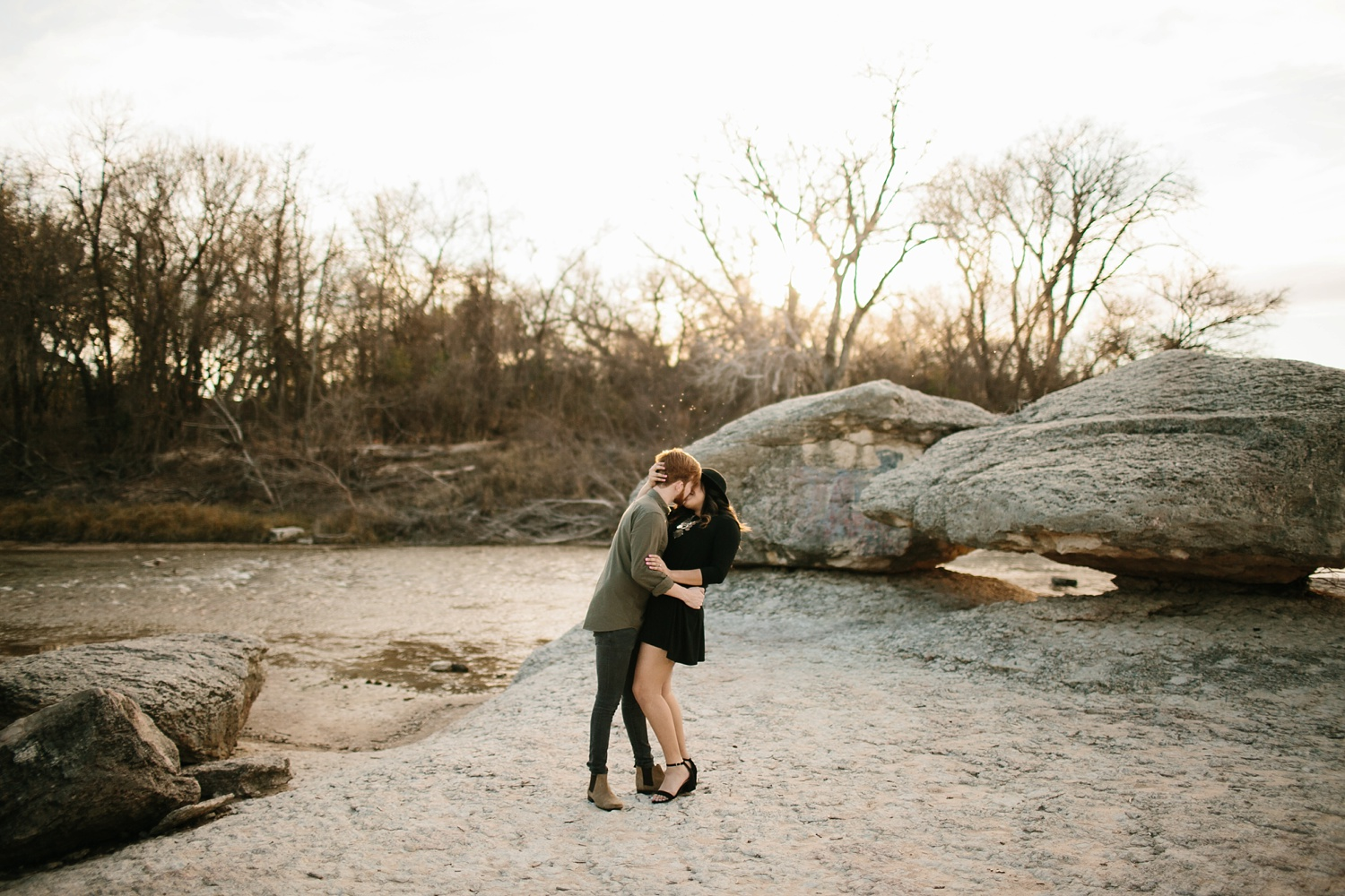 Grant + Lysette - floral dress engagement session by North Texas Wedding Photographer Rachel Meagan Photography052