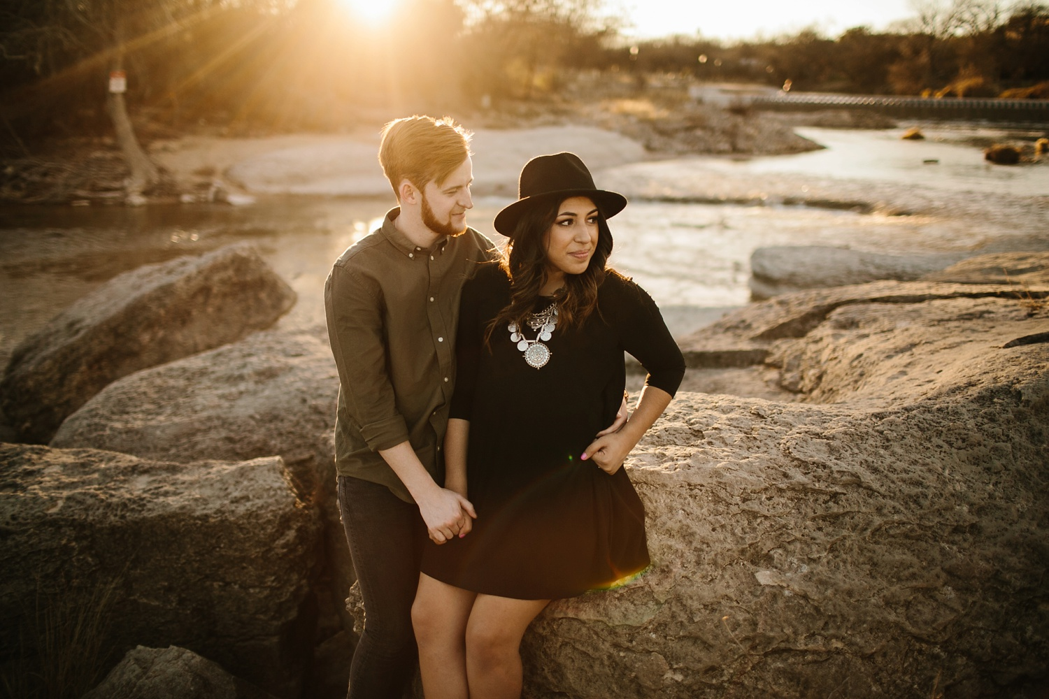Grant + Lysette - floral dress engagement session by North Texas Wedding Photographer Rachel Meagan Photography066