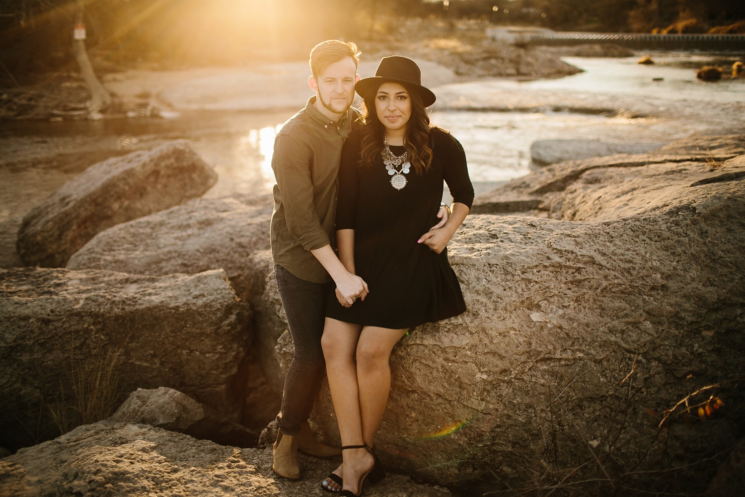 Grant + Lysette - floral dress engagement session by North Texas Wedding Photographer Rachel Meagan Photography067