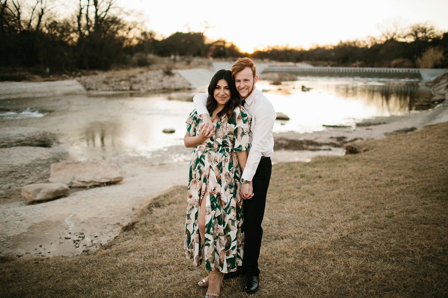 Grant + Lysette - floral dress engagement session by North Texas Wedding Photographer Rachel Meagan Photography080