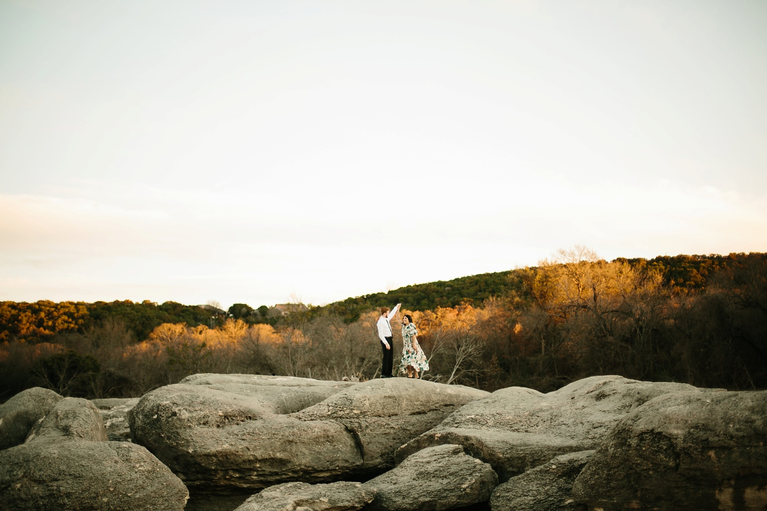 Grant + Lysette - floral dress engagement session by North Texas Wedding Photographer Rachel Meagan Photography082