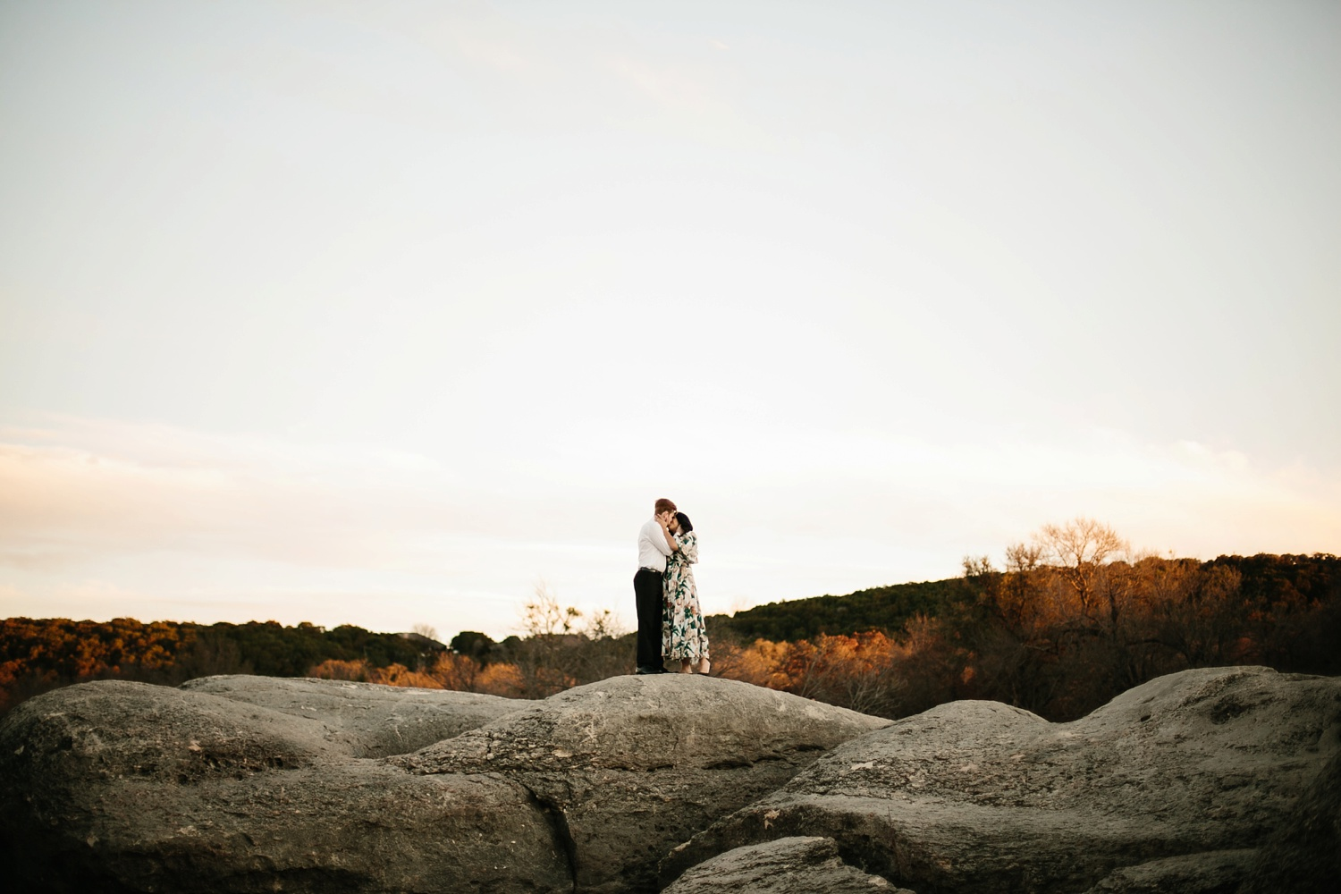 Grant + Lysette - floral dress engagement session by North Texas Wedding Photographer Rachel Meagan Photography083