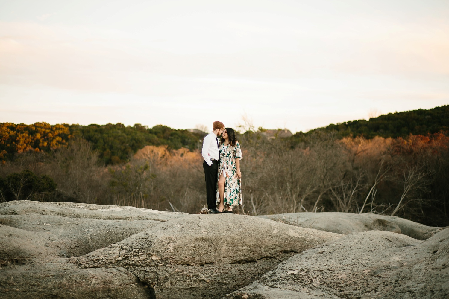 Grant + Lysette - floral dress engagement session by North Texas Wedding Photographer Rachel Meagan Photography085