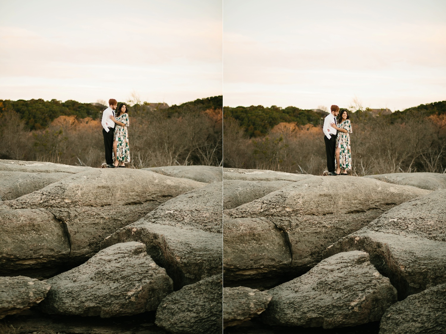 Grant + Lysette - floral dress engagement session by North Texas Wedding Photographer Rachel Meagan Photography086