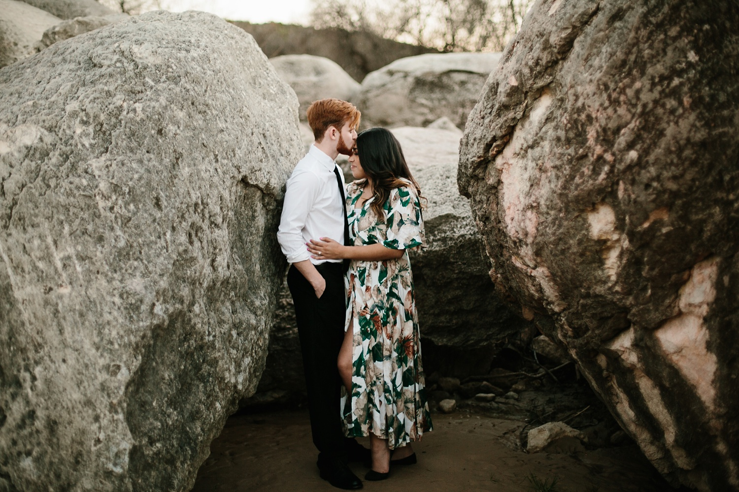 Grant + Lysette - floral dress engagement session by North Texas Wedding Photographer Rachel Meagan Photography094