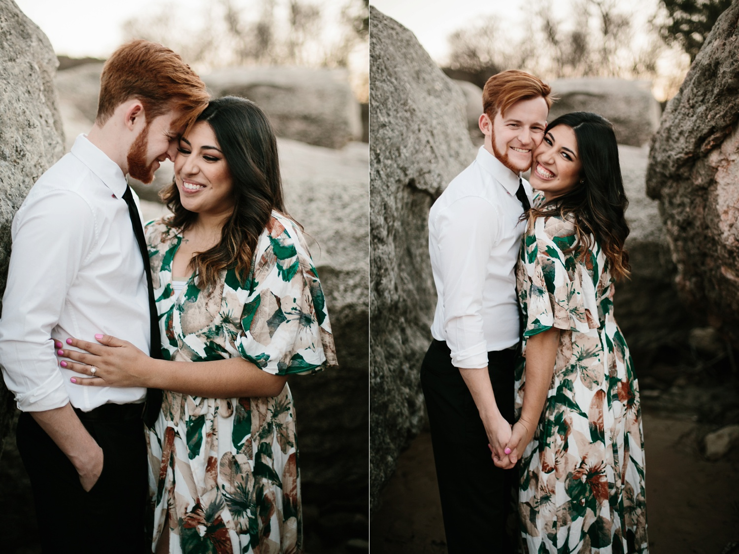Grant + Lysette - floral dress engagement session by North Texas Wedding Photographer Rachel Meagan Photography097