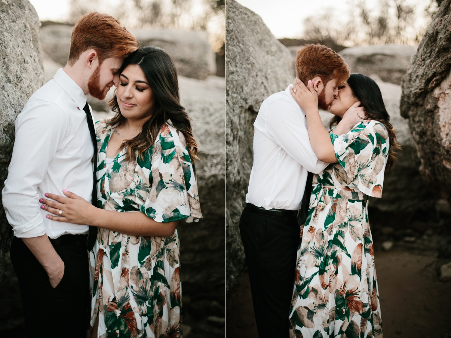 Grant + Lysette - floral dress engagement session by North Texas Wedding Photographer Rachel Meagan Photography098