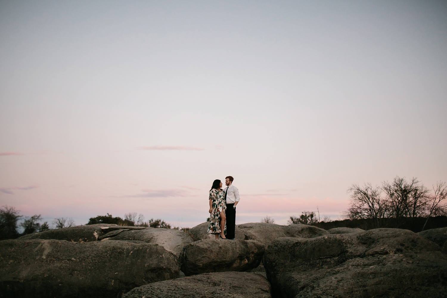 Grant + Lysette - floral dress engagement session by North Texas Wedding Photographer Rachel Meagan Photography099
