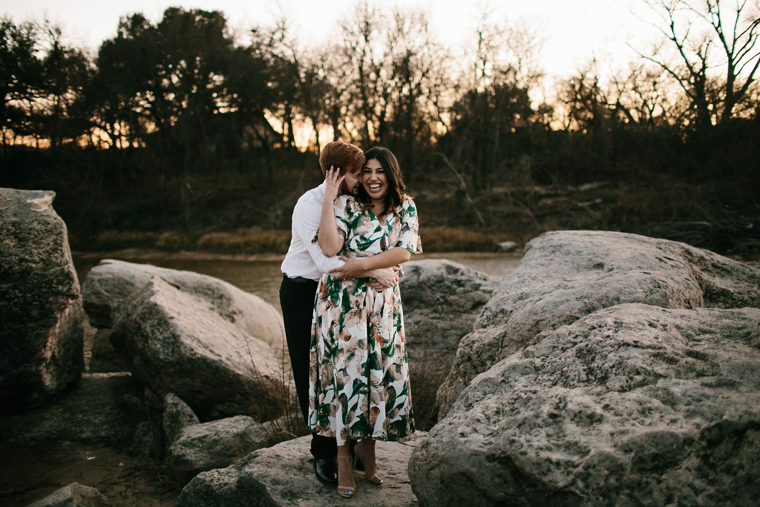 Grant + Lysette - floral dress engagement session by North Texas Wedding Photographer Rachel Meagan Photography102