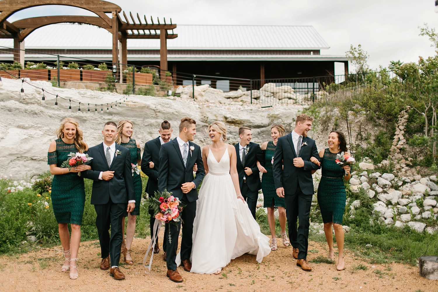 a breathtaking, rich, delicately vibrant Spring wedding accented with stunning faux florals at Stonecrest Event Venue by North Texas Wedding Photographer Rachel Meagan Photography _42