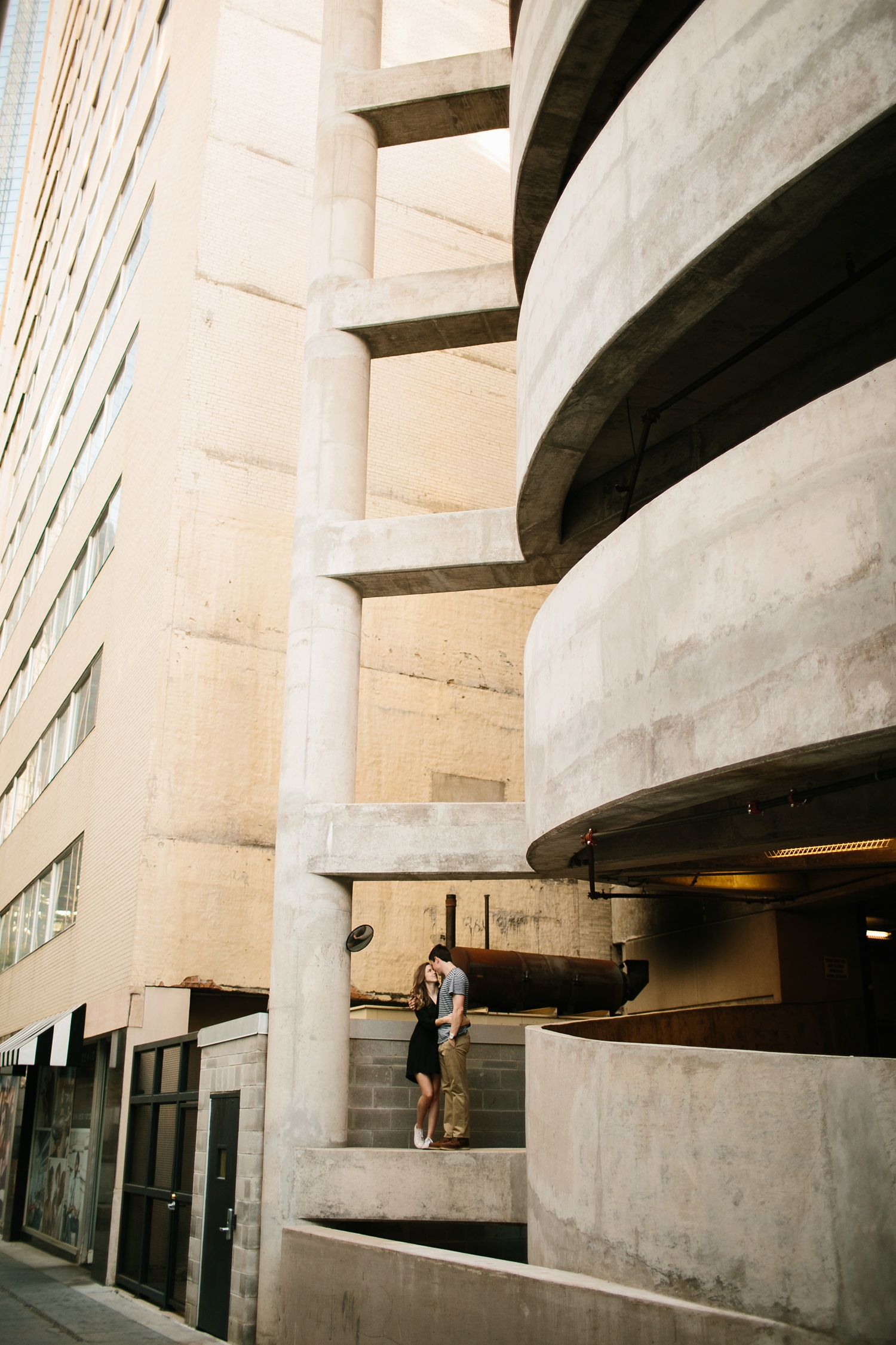 a passionate, natural, and urban engagement session in Dallas, TX by North Texas Wedding Photographer Rachel Meagan Photography _061