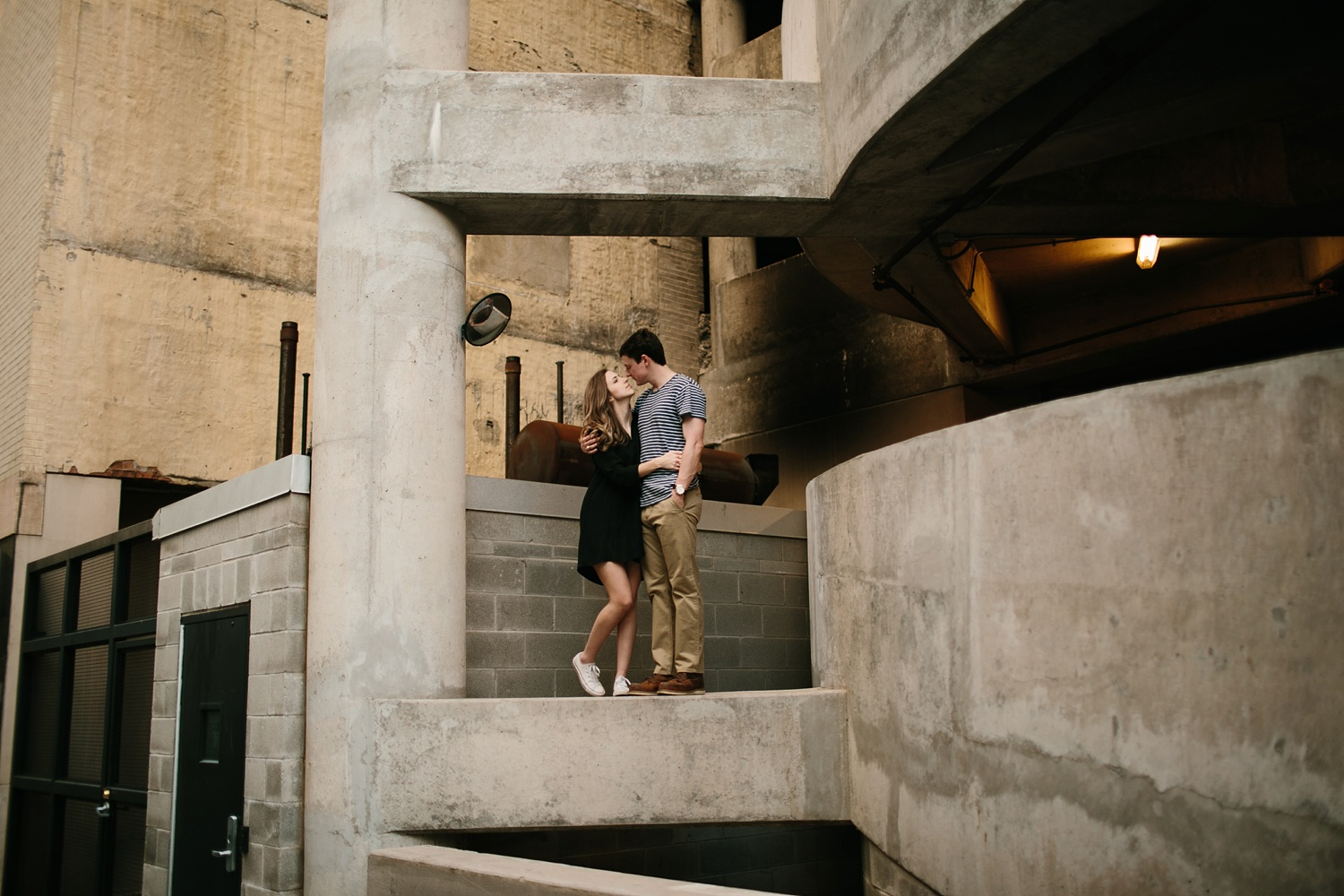 a passionate, natural, and urban engagement session in Dallas, TX by North Texas Wedding Photographer Rachel Meagan Photography _062