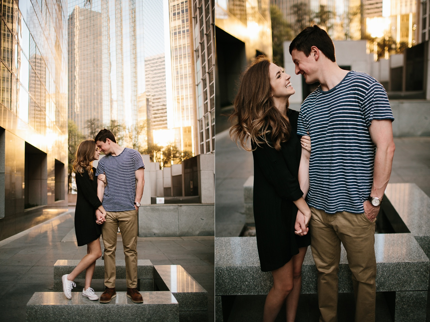 a passionate, natural, and urban engagement session in Dallas, TX by North Texas Wedding Photographer Rachel Meagan Photography _070