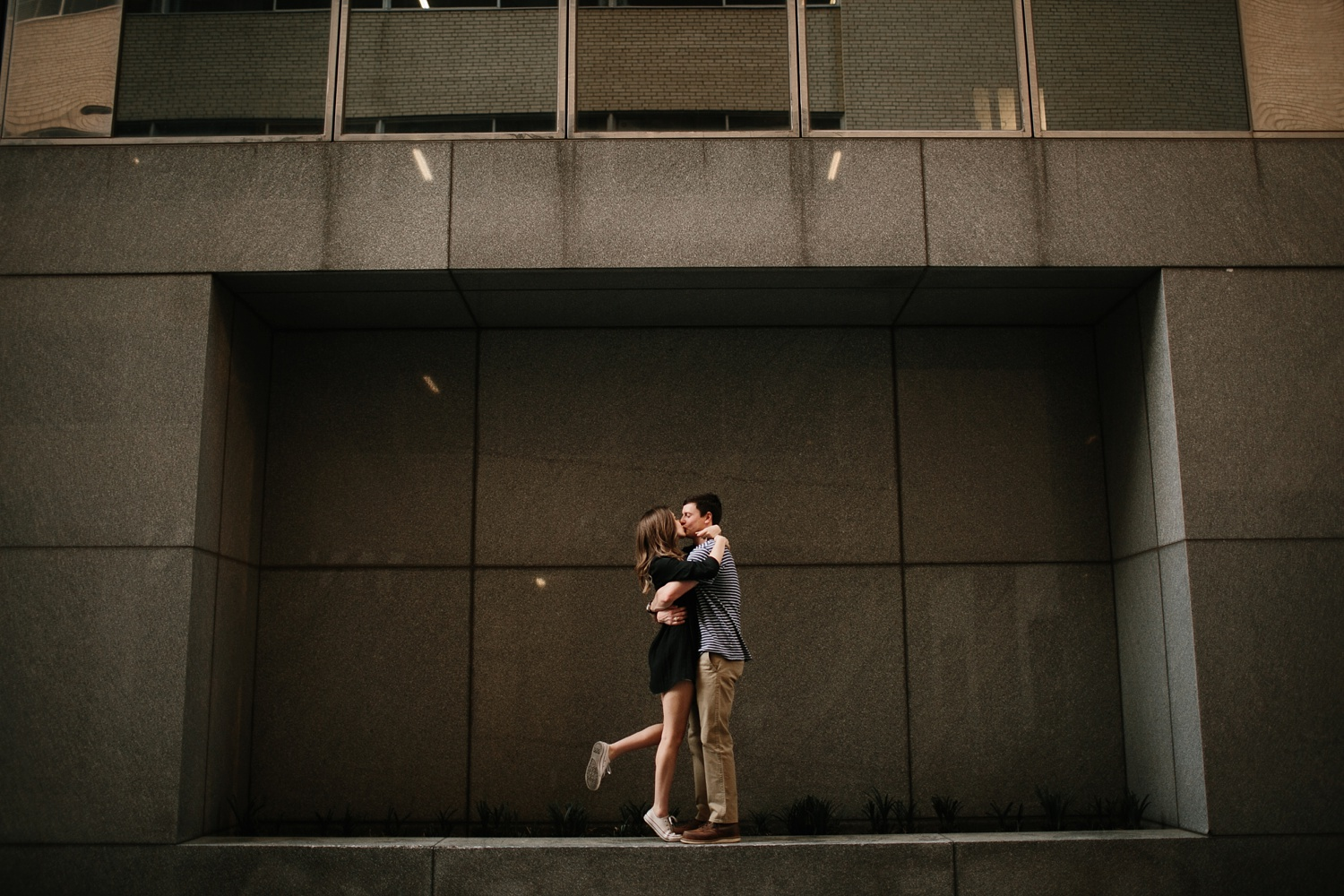 a passionate, natural, and urban engagement session in Dallas, TX by North Texas Wedding Photographer Rachel Meagan Photography _073