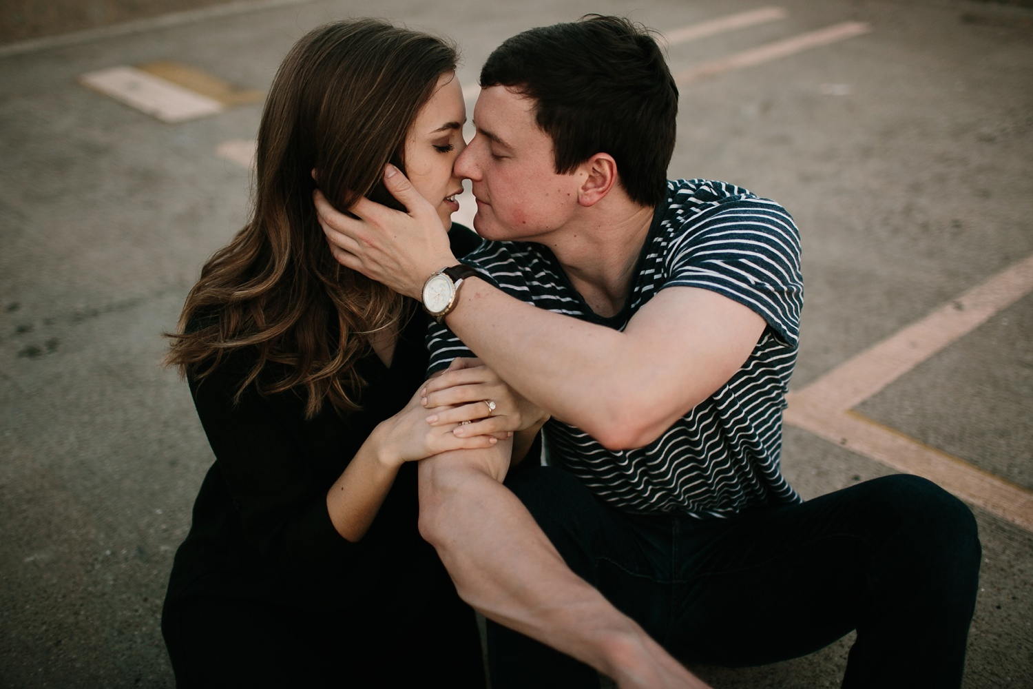 a passionate, natural, and urban engagement session in Dallas, TX by North Texas Wedding Photographer Rachel Meagan Photography _104