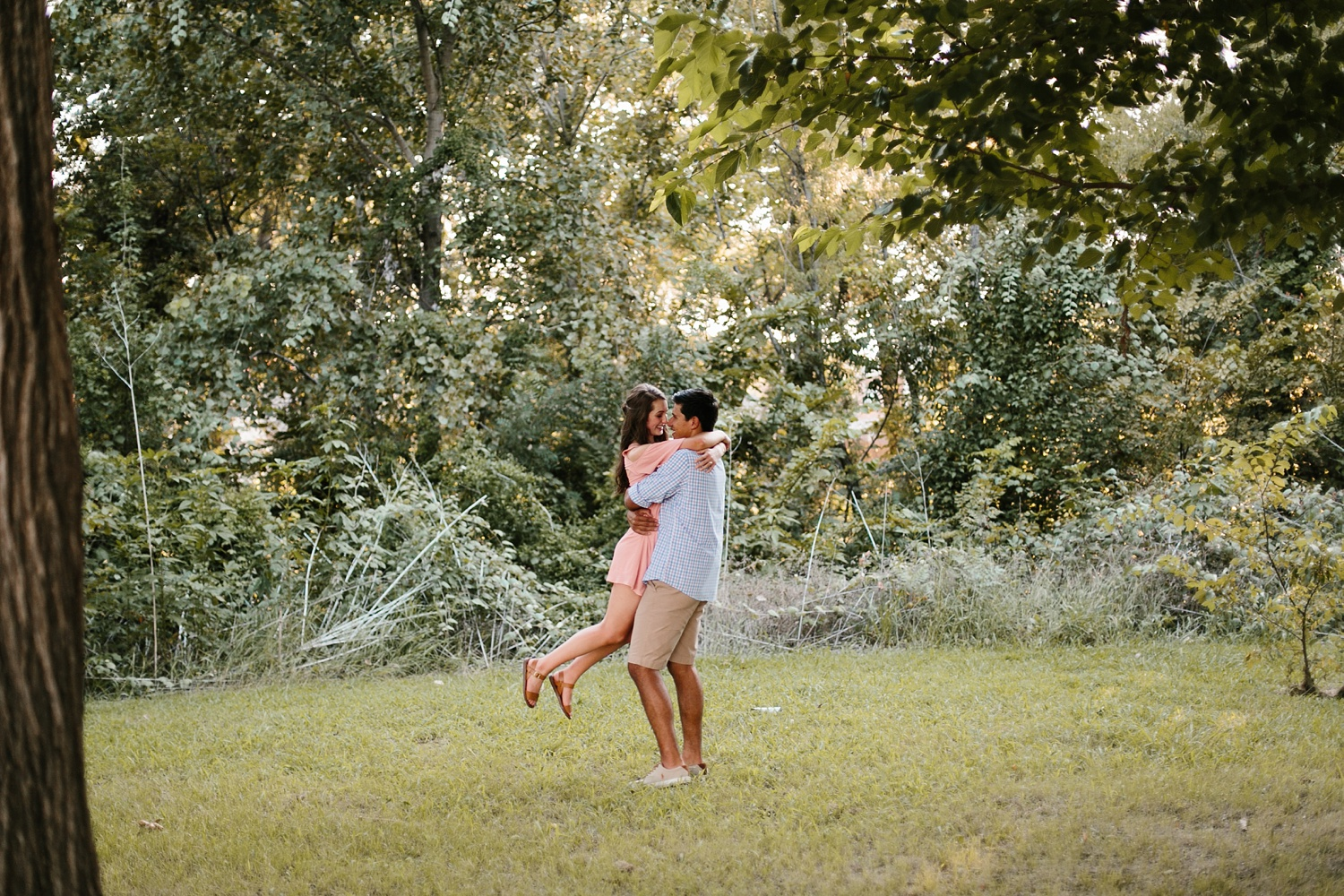 adventure engagement session that ended with jumping in the lake in Grapevine, TX by North Texas Wedding Photographer Rachel Meagan Photography _ 28