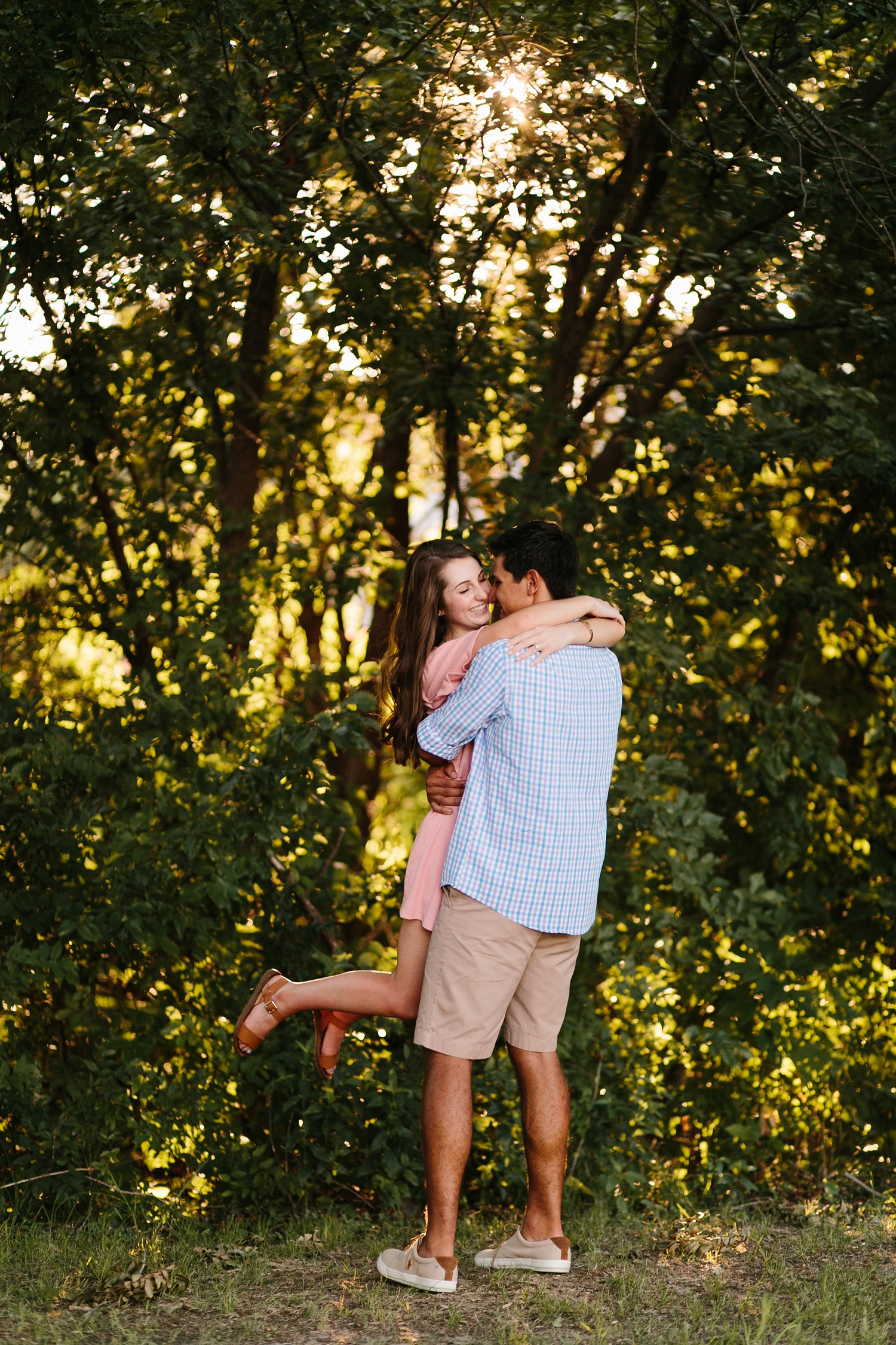 adventure engagement session that ended with jumping in the lake in Grapevine, TX by North Texas Wedding Photographer Rachel Meagan Photography _ 32