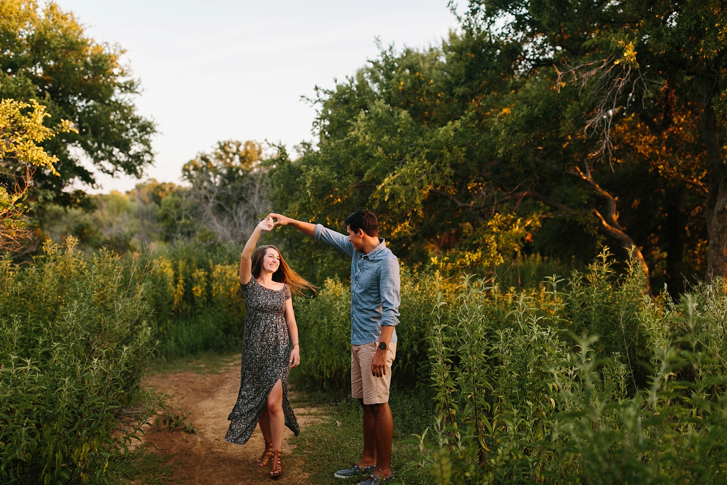 adventure engagement session that ended with jumping in the lake in Grapevine, TX by North Texas Wedding Photographer Rachel Meagan Photography _ 42