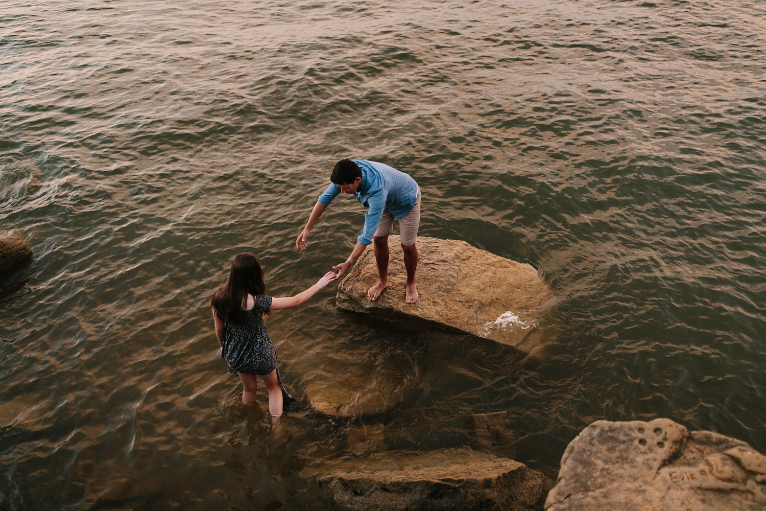 adventure engagement session that ended with jumping in the lake in Grapevine, TX by North Texas Wedding Photographer Rachel Meagan Photography _ 57