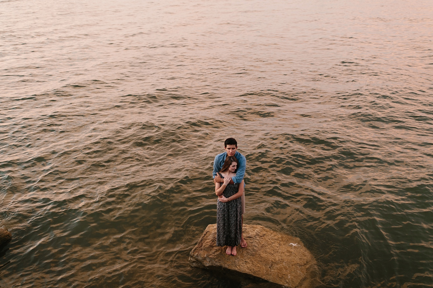 adventure engagement session that ended with jumping in the lake in Grapevine, TX by North Texas Wedding Photographer Rachel Meagan Photography _ 58