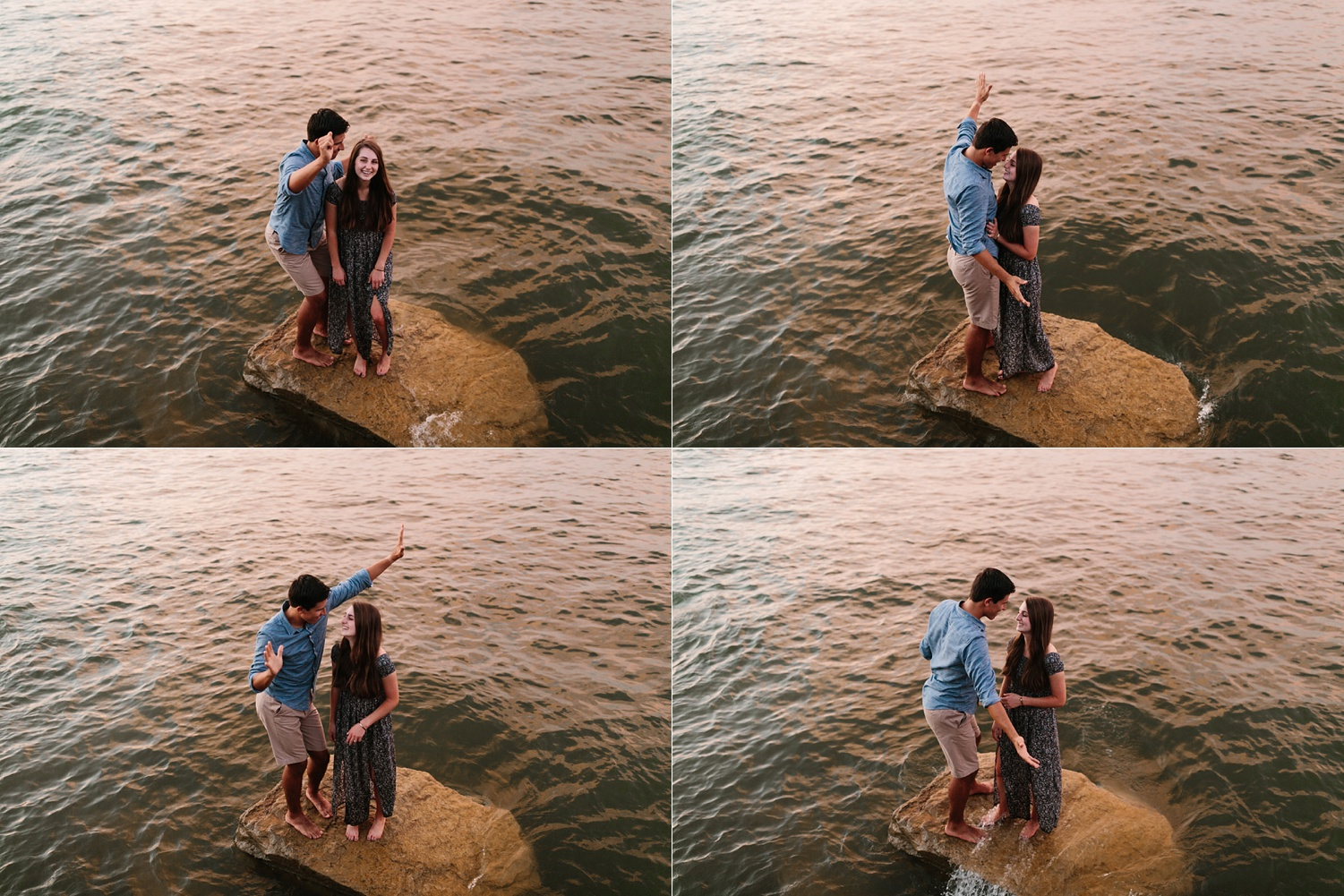 adventure engagement session that ended with jumping in the lake in Grapevine, TX by North Texas Wedding Photographer Rachel Meagan Photography _ 60