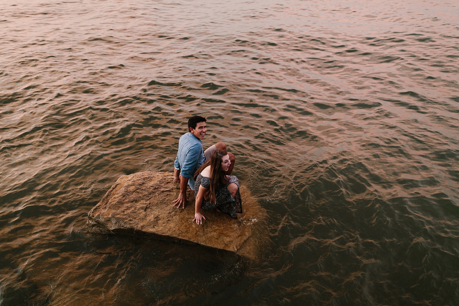 adventure engagement session that ended with jumping in the lake in Grapevine, TX by North Texas Wedding Photographer Rachel Meagan Photography _ 63
